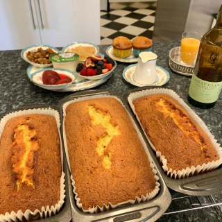 This was the scene at 7am and the kitchen is smelling amazing this morning with banana bread and vanilla and dark chocolate muffins out the oven as a wee sweet treat to accompany breakfast this morning or to have in a special place throughout the day   Where would you have yours?  #bananabread #islay #breakfast #readyfortheday #bake #baking